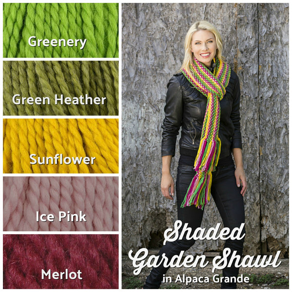 free knit scarf pattern bright yarn colors