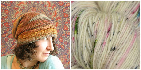 <br />Sockhead Slouch Hat knitting pattern by Kelley McClure and Tosh Light in Found Pottery