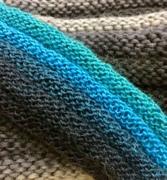 Welted knitting stitch