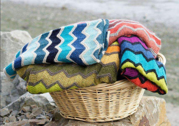 Missoni Inspired Blanket free knitting pattern