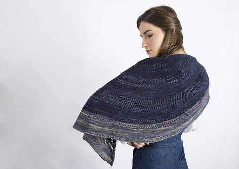 Moon River free shawl knitting pattern