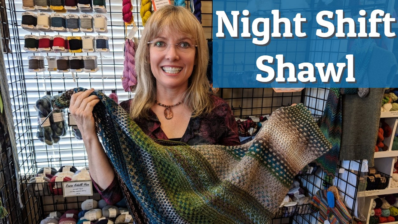 night shift shawl by Andrea Mowry