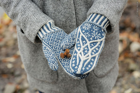 Norrland mittens knitting pattern