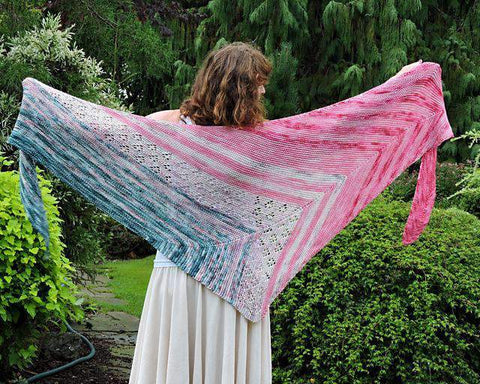 Rasperry Field free shawl knitting pattern