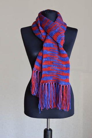 Stadium free knit scarf pattern