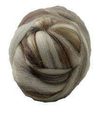 4 oz Blue Face Leicester Natural Colored Top - Alpaca Direct