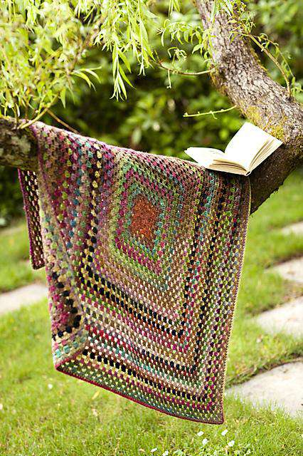 One Big Granny Square Throw Amp Afghan By Churchmouse Yarns