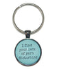 I Find Your Lack Of Yarn Disturbing Keychain-Notions-Alpaca Direct-Teal-Alpaca Direct