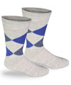 Alpaca Direct Argyle Dress Socks Grey-Socks-Alpaca Direct-Small-Light Blue Argyle-Alpaca Direct