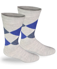 Alpaca Direct Argyle Dress Socks Gray-Socks-Alpaca Direct