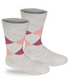 Highlander Argyle Alpaca Dress Socks-Socks-Alpaca Direct-Small-Pink Argyle-Alpaca Direct