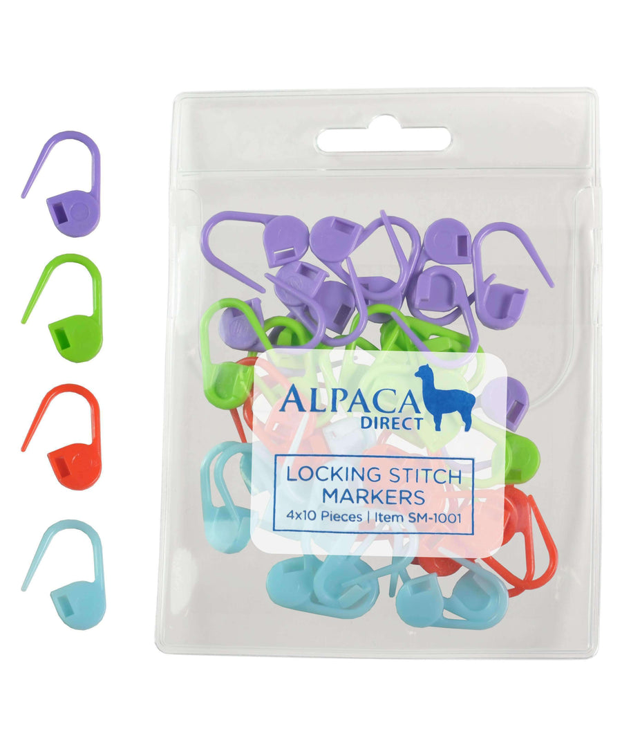 Alpaca Direct 40 Locking Stitch markers-Notions-Alpaca Direct-Alpaca Direct