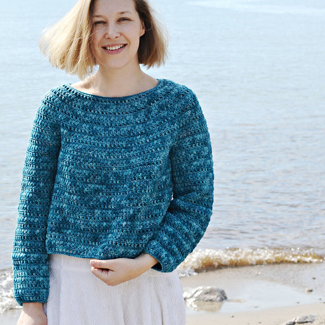 Anemone Sweater by Lena Fedotova