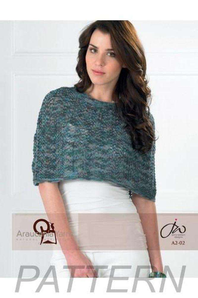 Araucania Yarns Ucayali Lace Poncho PATTERN ONLY – Alpaca Direct