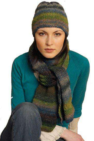 Cowslip Hat And Scarf By Jane Ellison Noro Pattern Alpaca Direct