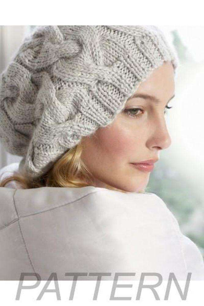 Debbie Bliss Cabled Beret Pattern Only Alpaca Direct