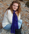 Honeycomb Knitted Scarf 100% Baby Alpaca-Scarves-Alpaca Direct-Purple 029-Alpaca Direct