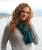 Honeycomb Knitted Scarf 100% Baby Alpaca-Scarves-Alpaca Direct-Teal 038-Alpaca Direct