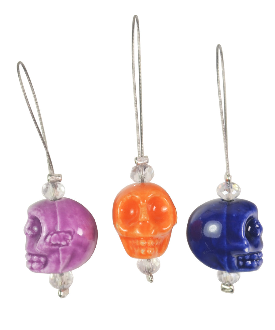 Knitter's Pride Zooni Stitch Markers Skull Candy
