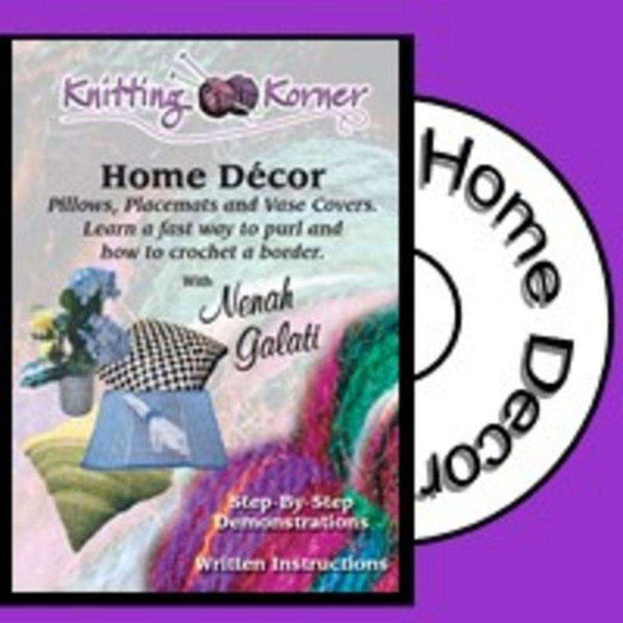 Knitting Korner DVD: Home Decor Pillows, Placemats, and Vase Covers-dvd-Alpaca Direct-Alpaca Direct