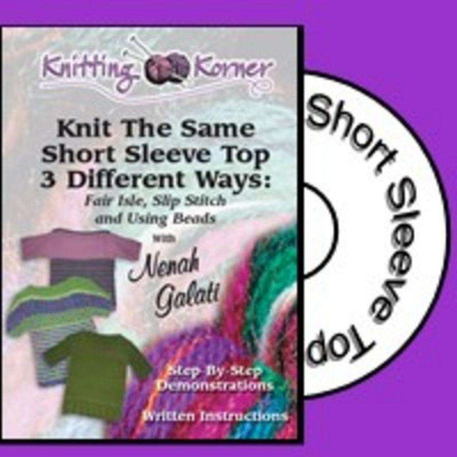 Knitting Korner DVD: Knit The Same Short Sleeve Top 3 Different Ways-dvd-Alpaca Direct-Alpaca Direct