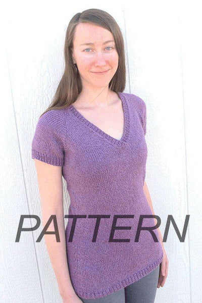 Knitting Pure And Simple Top Down V Neck Pullover Pattern Only
