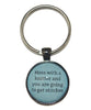 Mess With A Knitter And You Are Going To Get Stitches Keychain-Notions-Alpaca Direct-Teal-Alpaca Direct