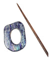 Navy Shell Shawl Pin-Notions-Bryson-Alpaca Direct