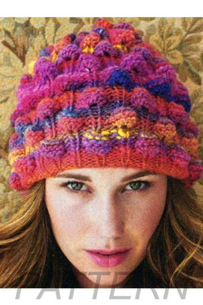 Noro 01 Bobble Hat Pattern Only Alpaca Direct