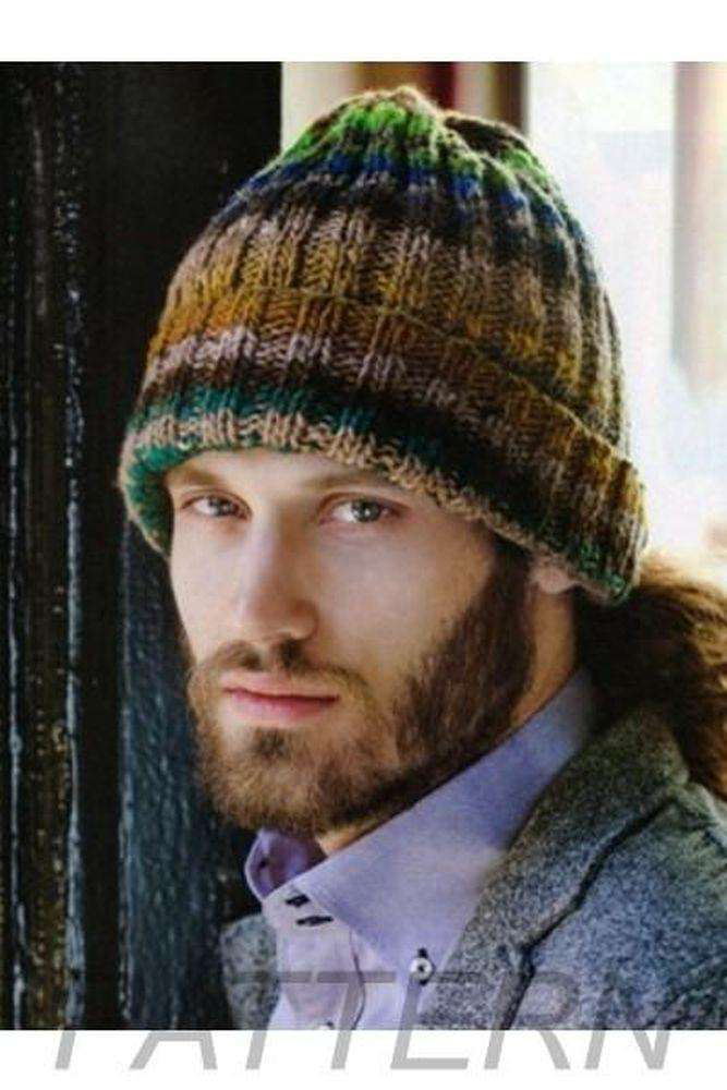 Noro 21 Mans Ribbed Hat Pattern Only