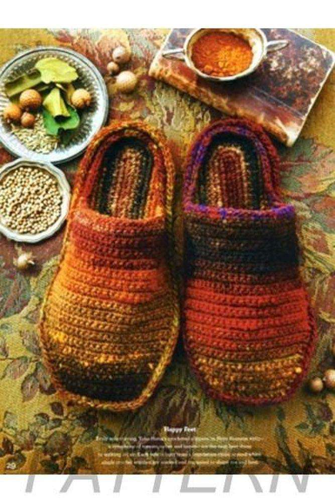 Noro 29 Crochet Slippers Pattern Only Alpaca Direct