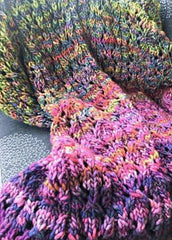 Rasta Rainbow Throw-Pattern-Patterns-Malabrigo Yarn-Rasta Rainbow Throw-Alpaca Direct