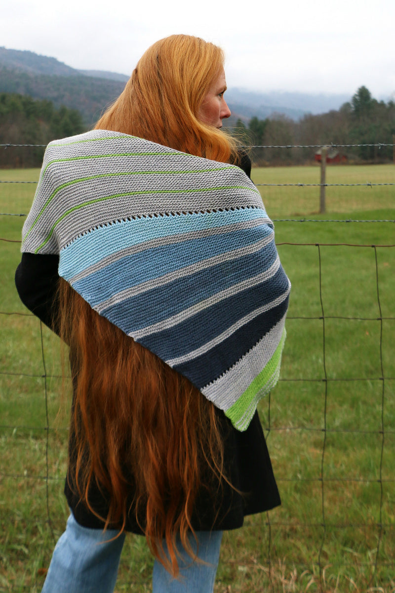 Stripes and Swaths Shawl by Stephanie Shiman
