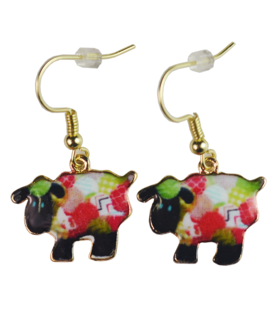 Wild and Wooly the Sheep Earrings