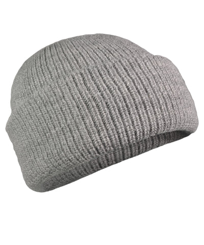 Women's Double Knit English Alpaca Hat-Apparel-Alpaca Direct-Light Grey-Alpaca Direct