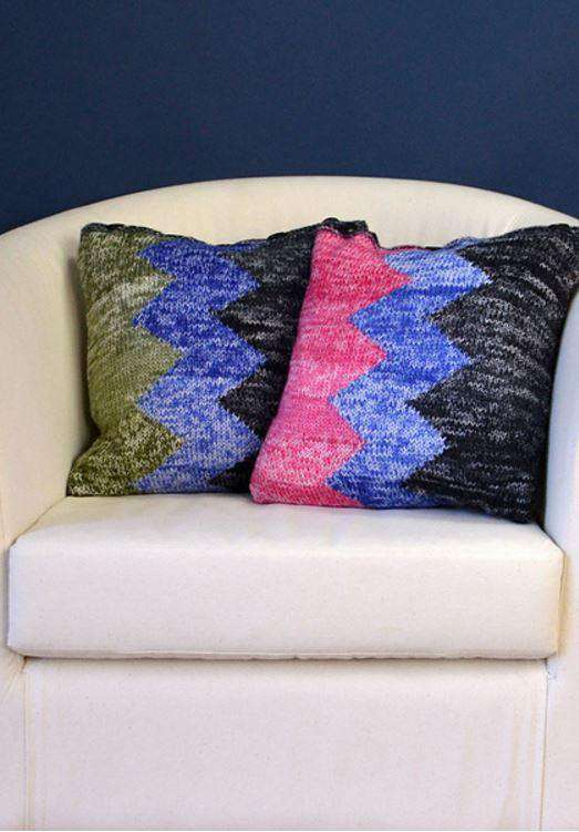 Zig Zag Pillows *Universal Yarn Pattern*-Patterns-Universal Yarns-Alpaca Direct