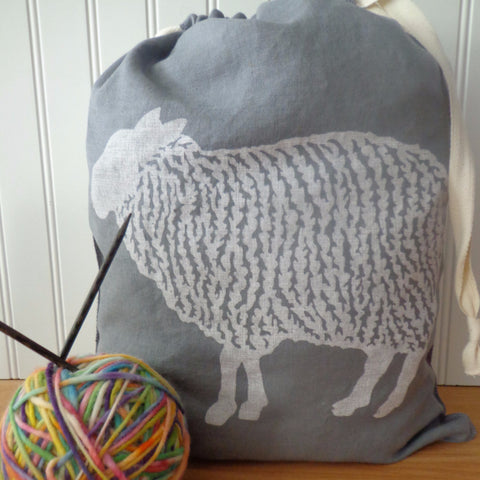 Sheep Drawstring Bag - Large
