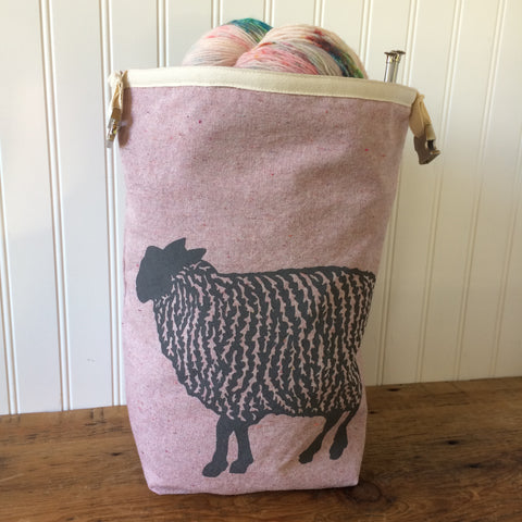 Sheep Trundle Bag - Pink
