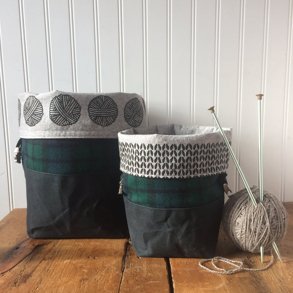 Mini Wax and Wool Trundle Bag
