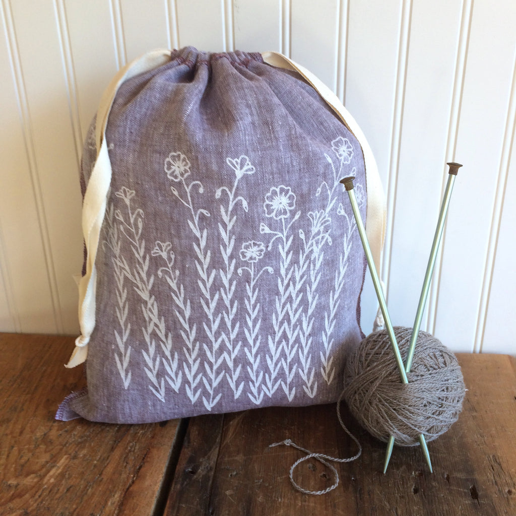 Yarn Dyed Drawstring Bag - Large