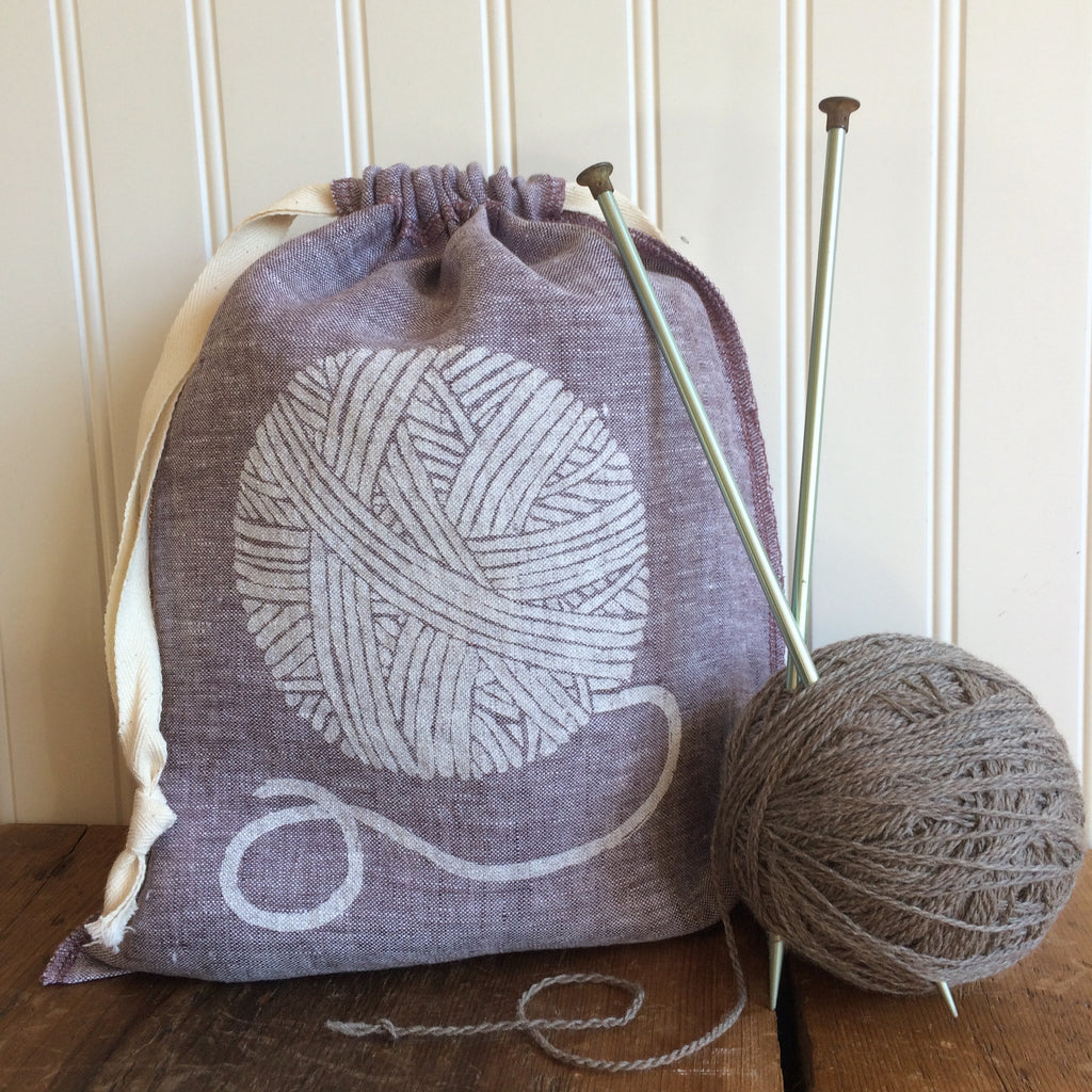 Yarn Dyed Drawstring Bag - Medium