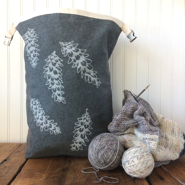 Large Pine Cone Trundle Bag