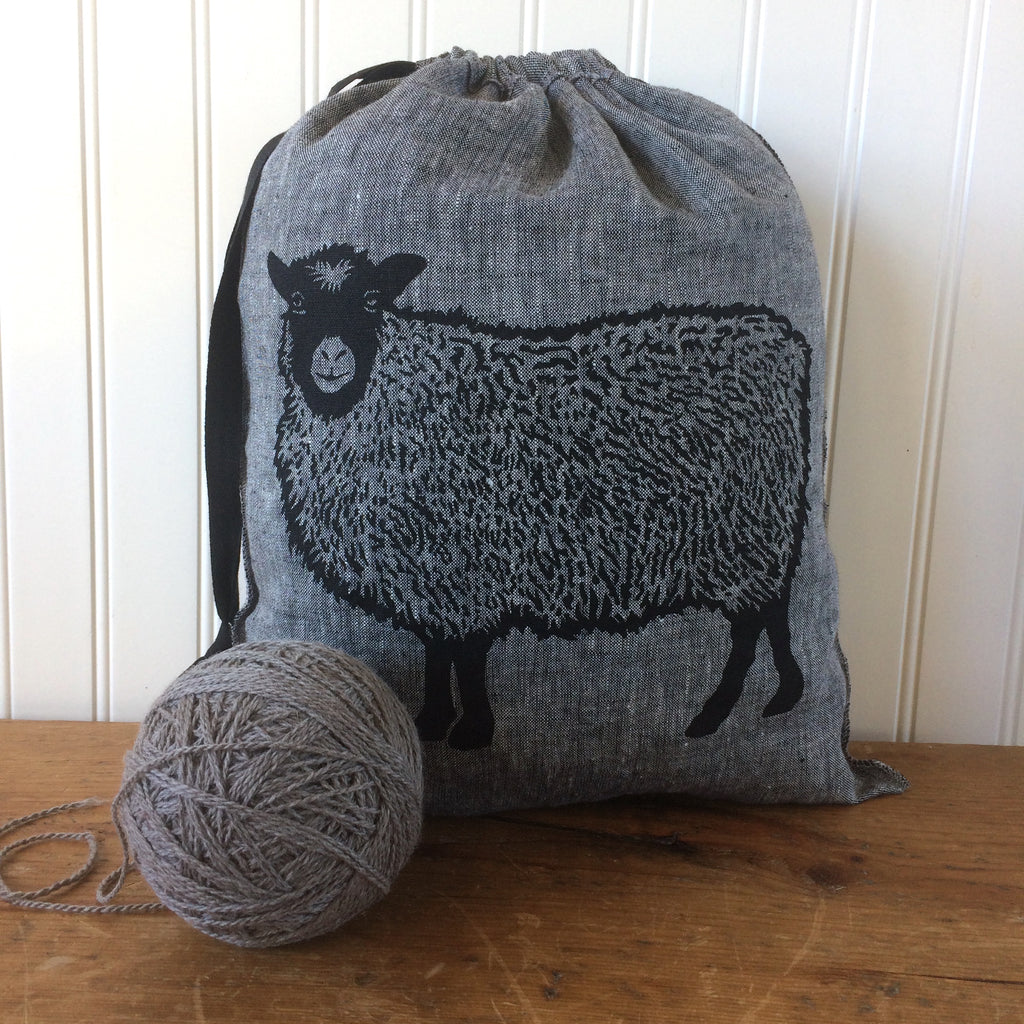 Large Yarn Dyed Drawstring Bag - Shetland