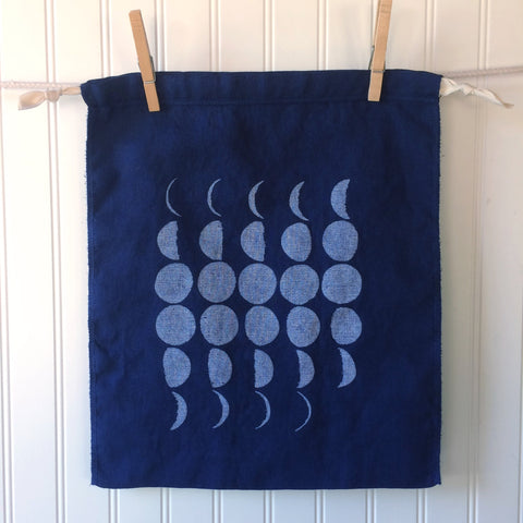 Blue Moon Drawstring Bag - Large