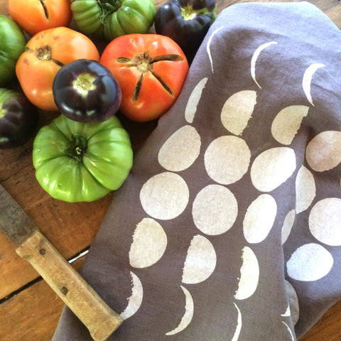 Moon Phases Tea Towel