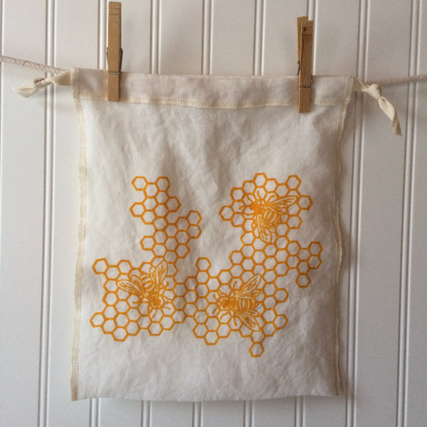 Honeycomb Drawstring Bag- Medium