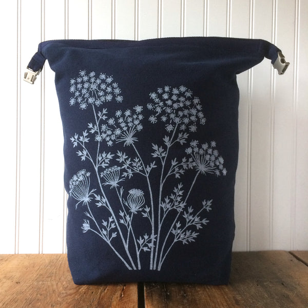 Limited Edition Large Yarn Trundle Bag- Queen Anne's Lace