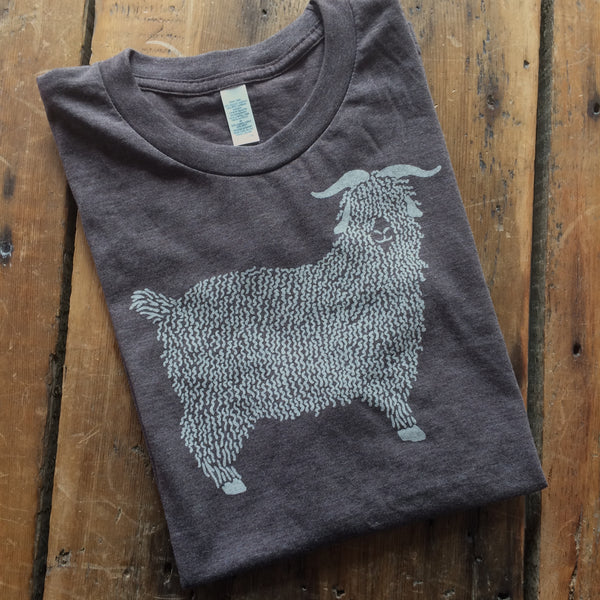 Angora Goat Tee Shirt- Brown