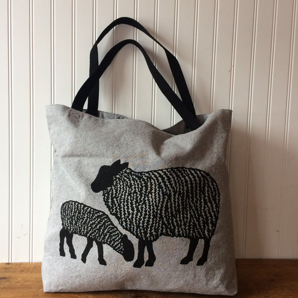 Sheep Tote Bag - Light Grey