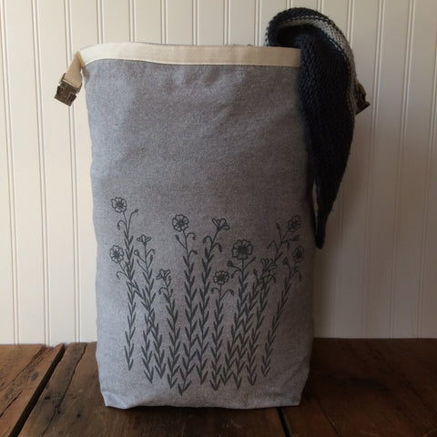 Large Flax Trundle Bag
